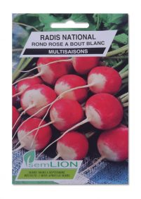 RADIS NATIONAL  ROND ROSE A BOUT BLANC